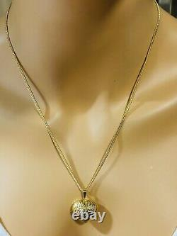 18K 750 Fine Yellow Gold 20 Long Womens Heart Necklace 2.5mm 5.2g Fastship