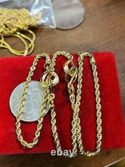 18K Fine 750 Saudi Real Gold Womens Heart Necklace With 18 8.53g 3mm Fast-ship