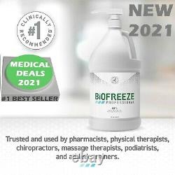 2021 Genuine Biofreeze Gallon Pain Relieving Gel Pump Bottle, Fast Free Shipping