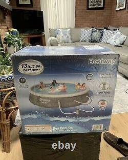 BRAND NEW BESTWAY 13' x 33 FAST SET POOL WITH FILTER PUMP AND FILTER! FAST SHIP
