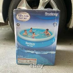 Bestway 12ft x 30in Fast Set Inflatable Above Ground Pool No Pump FAST SHIPPING
