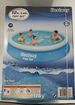 Bestway 12ft x 30in Fast Set Inflatable Above Ground Pool No Pump NEW SHIPS NOW