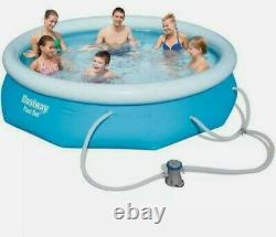 Bestway Fast Set 10 ft x 30 inch Swimming Pool Set With Pump Ready To Ship