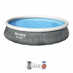 Bestway Fast Set 13 Foot Above Ground Pool with Pump & Filter (FAST FREE SHIPPING)