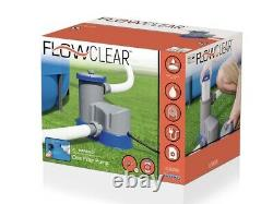 Bestway Flowclear 1500 GPH Filter Pump for Above Ground Pools New Ships Fast