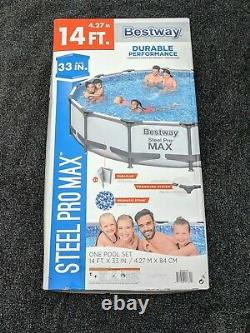 Bestway Steel Pro MAX 14 ft x 33 in Pool with Filter Pump FAST SHIPPING