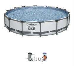 Bestway Steel Pro MAX 14 ft x 33 in Pool with Filter Pump NEW FAST SHIPPING