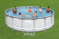 FAST SHIPBestway 16' x 48 Power Steel Frame Pool with Pump, Ladder & Cover