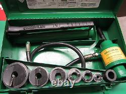 Greenlee 7646 Ram & Hand Pump Hydraulic Driver Kit, Preowned, Very Nice, Fast Ship