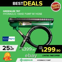 Greenlee 767 Hydraulic Hand Pump- Excellent Condition, Free Extras, Fast Shipping