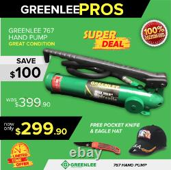 Greenlee 767 Hydraulic Hand Pump, With Hose, Preowned, Fast Shipping