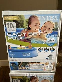Intex 10 X 30 Easy Set Above Ground Swimming Pool With Filter Pump, Ships Fast