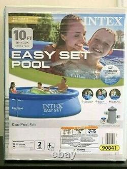 Intex 10ft X 30in Easy Set Above Ground Pool With Filter Pump SHIPS FAST