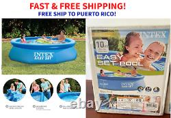 Intex 10ft x 30in Easy Set Swimming Pool Inflatable Kid NO PUMP FAST SHIP