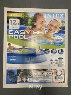 Intex 12 FT X 30 IN Easy Set Above Ground Swimming Pool & Filter Pump, FAST SHIP