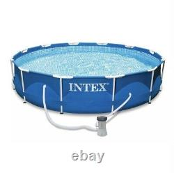 Intex 12' x 30 Metal Frame Above Ground Pool with Filter Pump FREE FAST SHIP