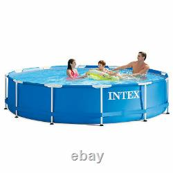 Intex 12' x 30 Metal Frame Above Ground Pool with Filter Pump NEW FAST SHIP