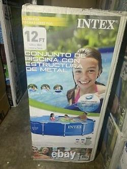 Intex 12ft x 30in Metal Frame Above Ground Pool Set with Filter Pump NEW FAST SHIP