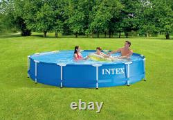 Intex 12ft x 30in Metal Frame Above Ground Pool withFilter Pump FREE FAST SHIP