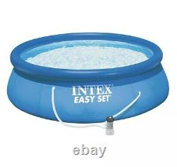Intex 15' x 48 Inflatable Easy Set with Ladder, Pump SHIPS FAST