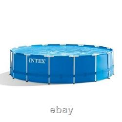 Intex 15' x 48 Metal Frame Above Ground Pool with Filter Pump (FAST SHIPPING)