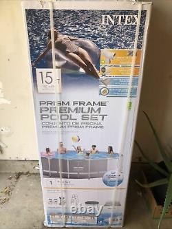 Intex 15ft X 48in Prism Frame Above Ground Swimming Pool Set IN HAND! Fast ship