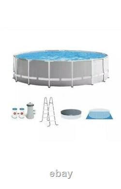 Intex 15ft x 48in Prism Above Ground Swimming Pool with Ladder FAST FREE SHIP