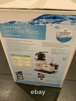 Intex 2100 GPH Sand Filter Pool Pump with GFCI Sealed Free Fast Shipping