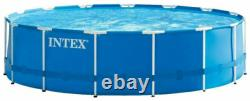 Intex 28253EH 18'x48 Metal Frame Pool Set with Pump + Ladder (Fast Shipping)