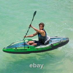Intex Challenger K1 Inflatable Kayak with Oar and Air Pump (FAST FREE SHIPPING)