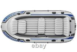 Intex Excursion 5 Person Inflatable Boat Dinghy with Oars & Pump FAST SHIPPING