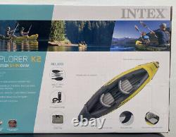 Intex Explorer K2 Inflatable Kayak 2 Person with Oars and Pump FAST SHIP