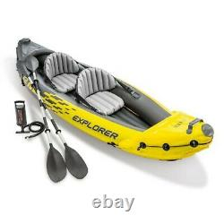 Intex Explorer K2 Inflatable Kayak with Oars and Hand Pump In Hand! Ships Fast
