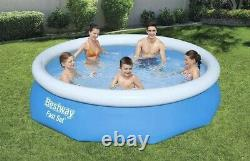 NEW Bestway 10ft x 30in 10x30 Fast Easy Set Pool with Filter Pump! Ships Quick