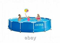 NEW Intex 12 x 30 Metal Frame Set Round Swimming Pool withFilter Pump SHIPS FAST