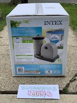 NEW Intex 1500 GPH Krystal Clear Filter Pump with Timer In Hand SHIPS FAST