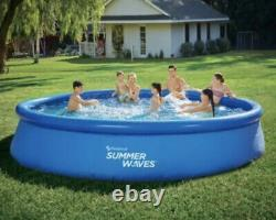 NEW Summer Waves 15ft Quick Set Ring Pool with 600 GPH Filter Pump FAST SHIP