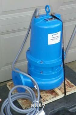 New 5 HP GOULDS WATER TECHNOLOGY WS5034D3 Submersible Sewage Pump 460V FAST SHIP
