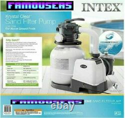 New Intex 2100 GPH Sand Filter Pump For Above Ground Pools 26645EG Fast Ship