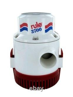 Rule 3700 Gph (14A) Non Automatic Bilge Pump 1-1/2 Outlet 12V (14A) FASTSHIP