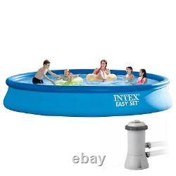SHIPS FAST Intex 15ft x 33in Easy Set Inflatable Swimming Pool with Filter Pump