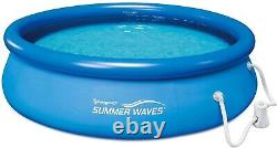 SHIPS FAST- Summer Waves 10 x 30 Quick Set Inflatable Above Ground Pool W Pump