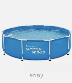SUMMER WAVES 10 x 30 Active Metal Frame Pool Pump & Filter FAST SHIPPING