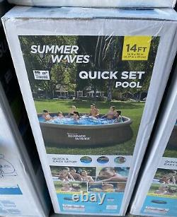 SUMMER WAVES 14 x 36 Wicker Print Quick Set Pool with Pump & Filter Ships FAST