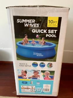 Summer Waves 10 ft x 30 in Quick Set Inflatable Pool with Filter Pump FAST SHIP