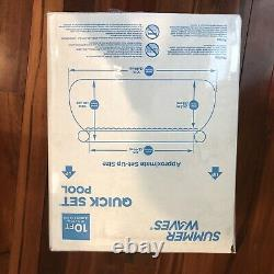 Summer Waves 10'x30 Quick Set Inflatable Pool with Filter Pump NEW SHIPS FAST