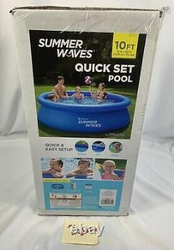 Summer Waves 10ft X 30in Quick Set Ring Pool With 600 GPH Filter Pump SHIPS FAST