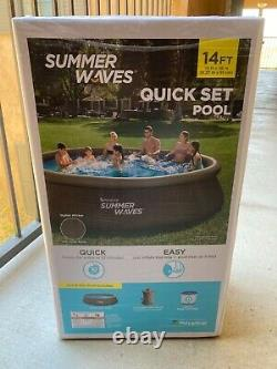 Summer Waves 14ft x 36in Quick Set Pool with Cartridge Filter Pump Fast Ship