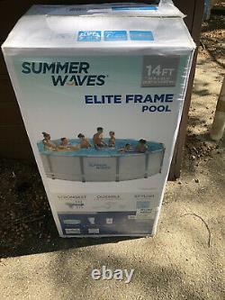 Summer Waves 14ft x 42in Elite Frame Pool withFilter Pump Cover Ladder FAST SHIP