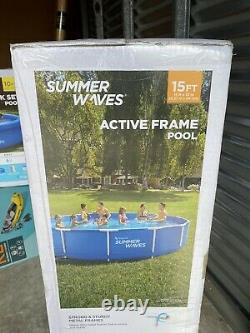 Summer Waves 15ft Active Metal Frame Pool with 600 GPH Filter Pump FAST SHIP
